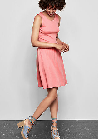 Interlock-Kleid in Unicolor