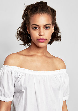Off Shoulder-Bluse aus Voile