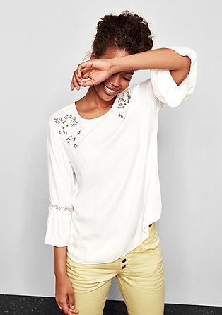 Crêpe blouse met kant