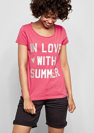 Jerseyshirt mit Holo-Print
