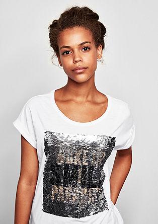 T-Shirt mit Wendepailletten