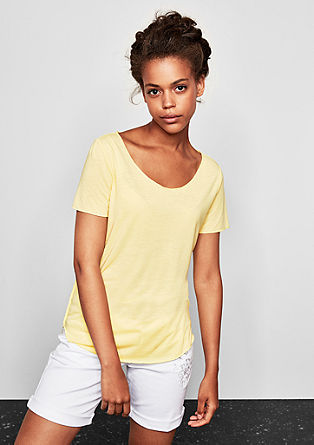 Oversized top with linen from s.Oliver