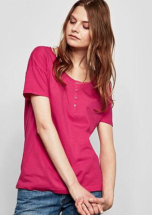 Softes T-Shirt im Henley-Stil