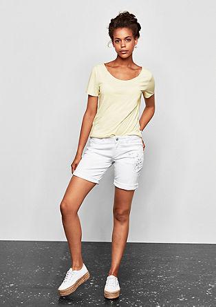 Abby Straight: Twill-Shorts