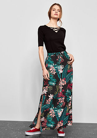 Floaty maxi skirt with side slits from s.Oliver
