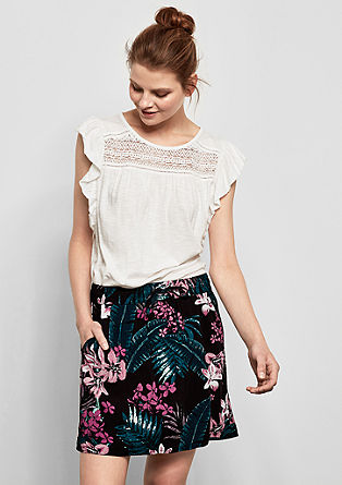 Sportieve rok met print all-over