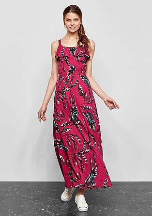 Floaty maxi dress with a printed tropical pattern from s.Oliver