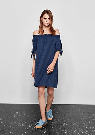 Off Shoulder-Kleid mit Schleifchen