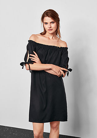 Off-the-shoulder dress with bows from s.Oliver