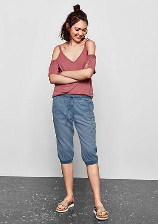 3/4 hlače iz poletnega jeansa