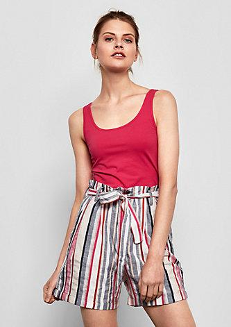 Paperbag-Shorts mit Bindegürtel