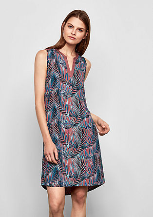 Dress with a notch neckline from s.Oliver