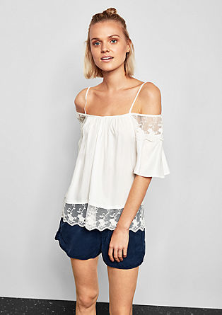 Off-shoulder blouse met kant