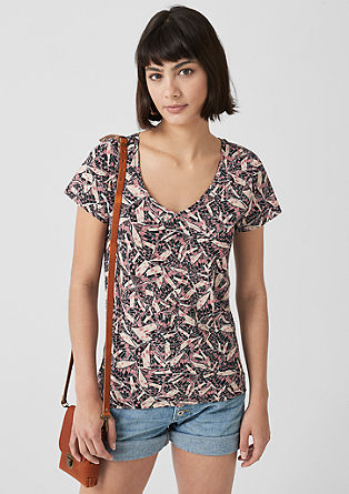 T-shirt with a print pattern from s.Oliver