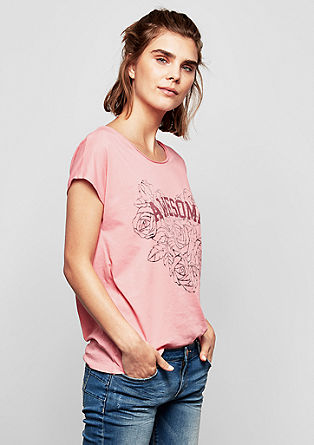 T-shirt met een inside-out print