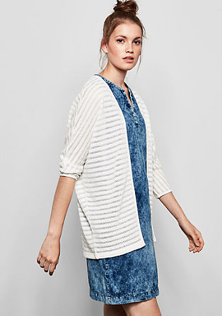 Casual cardigan with a fantasy pattern from s.Oliver