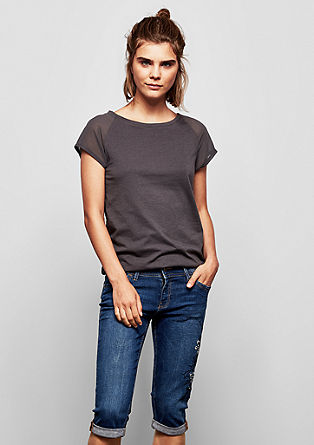 Sadie superskinny: denim met borduursel