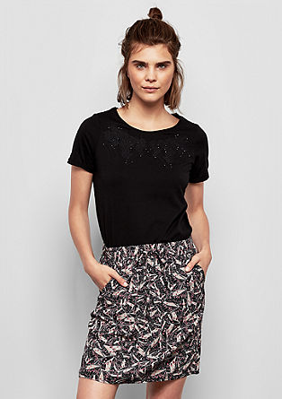 Viscose skirt with a printed pattern from s.Oliver