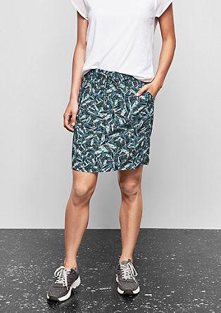 Viskózová sukně snatištěným vzorem