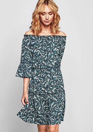 Off-shoulder jurk met volants