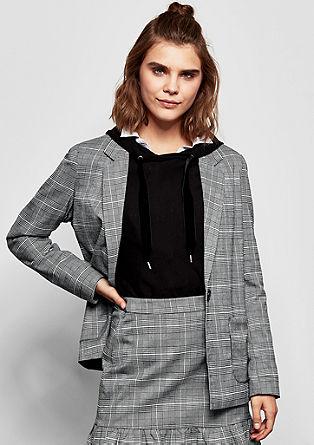 Elegante blazer met prince-de-galles