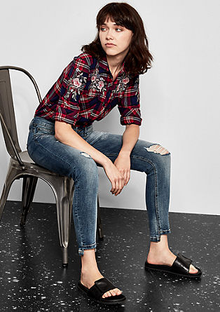 Catie Ankle: embroidered jeans from s.Oliver