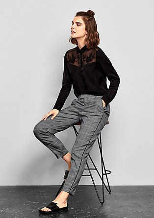 Elegant glencheck trousers from s.Oliver