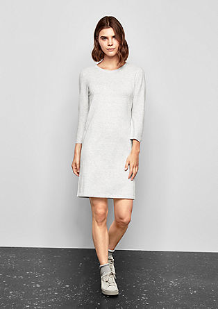 Knit dress with ribbed details from s.Oliver