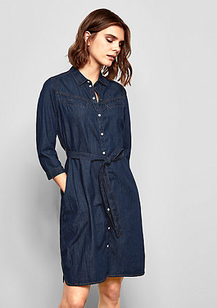 Denim dress with a button placket from s.Oliver