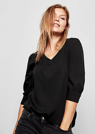 Textured blouse with 3/4-length sleeves from s.Oliver