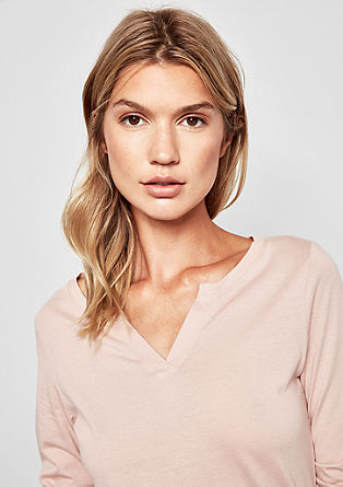 Tričko s dlouhým rukávem a tunikovým výstřihem