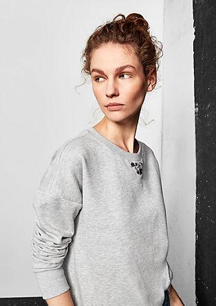 Sweatshirt mit Schmuckdetail