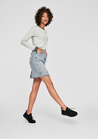 Pale denim skirt in a vintage finish from s.Oliver