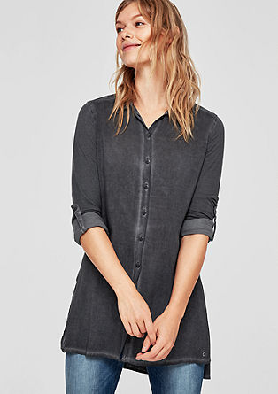 Fabric mix blouse with washed effect from s.Oliver
