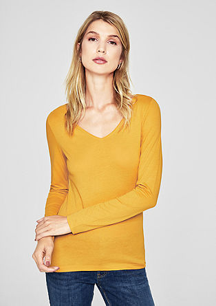 Long sleeve top with a wide neckline from s.Oliver