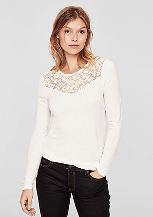 Long sleeve top with lace from s.Oliver