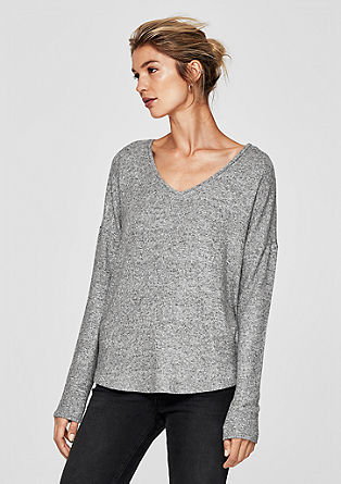 Long sleeve top with gemstones from s.Oliver