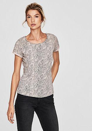 Majica iz džersija s potiskom po vsej površini