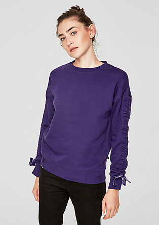Sweatshirt with gathered sleeves from s.Oliver