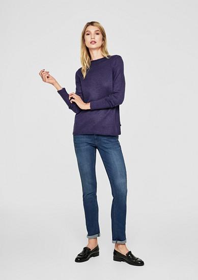 Gebreide trui in een fijne wollige look