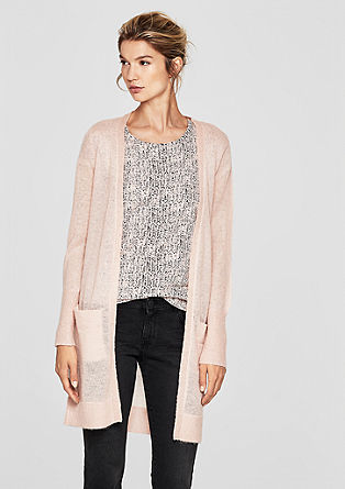 Long, wool blend cardigan from s.Oliver