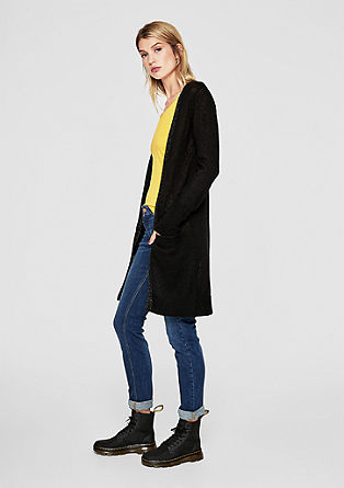 Long-Cardigan aus Wollmix