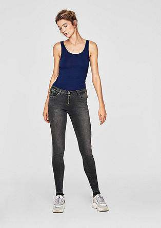 Sadie Superskinny: Jeans with a zip fly from s.Oliver
