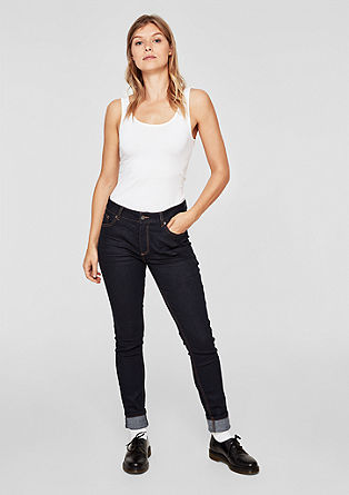 Reena Slim: dark high-rise jeans from s.Oliver