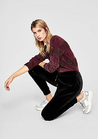 Casual velvet trousers from s.Oliver