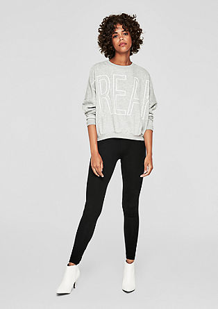 Jersey leggings with a ribbed waistband from s.Oliver