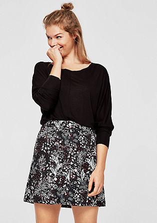 Jacquard rok met een gesuggereerde knoopsluiting