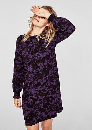Viskozna obleka s cvetličnim vzorcem