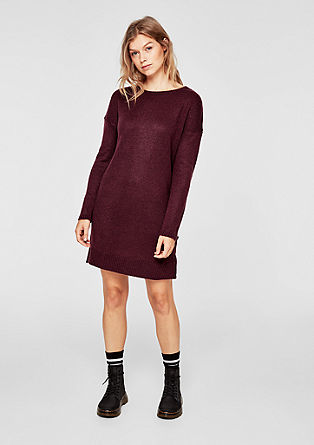 Fine knit dress with ribbed trims from s.Oliver