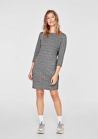 Stretch dress with a check pattern from s.Oliver